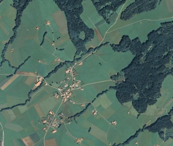 Vue aérienne de Maules